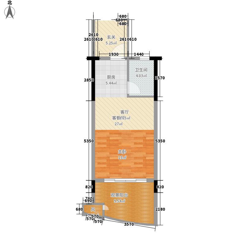 中和龙沐湾·海润源46.41㎡中和龙沐湾・海润源A1单间配套户型