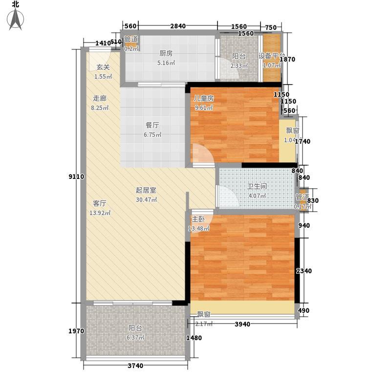 滨海珺城89.00㎡7栋01户型3室2厅