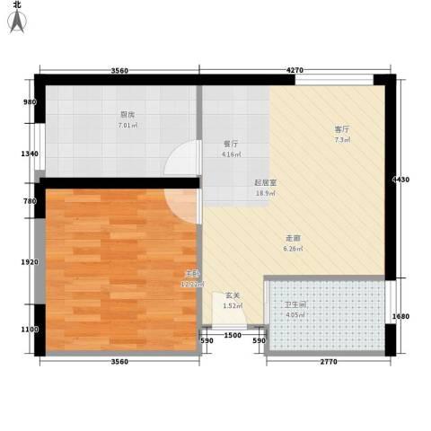 格兰小镇1室0厅1卫1厨59.00㎡户型图