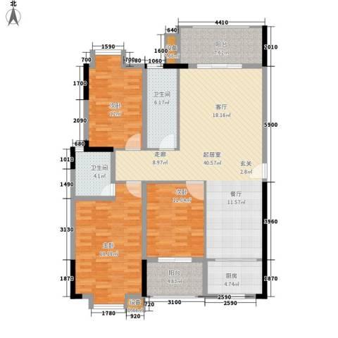 西源鑫大厦3室0厅2卫1厨140.00㎡户型图
