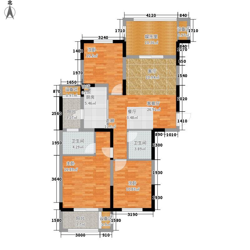 绿地国际金融城114.00㎡A2户型3室2厅