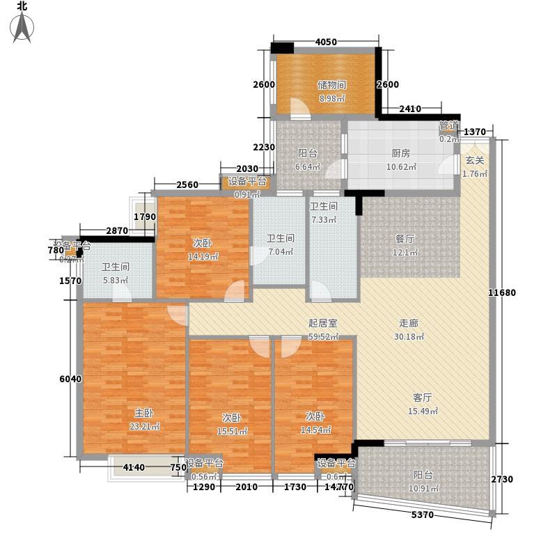 锦东花园207.00㎡B16座标准层02单元4室户型