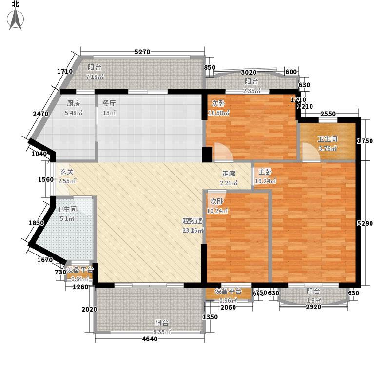 长沙玫瑰园135.00㎡17#楼053面积13500m户型