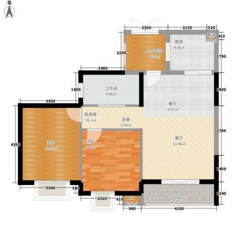 滨江果园避寒度假山庄2室0厅1卫1厨88.00㎡户型图