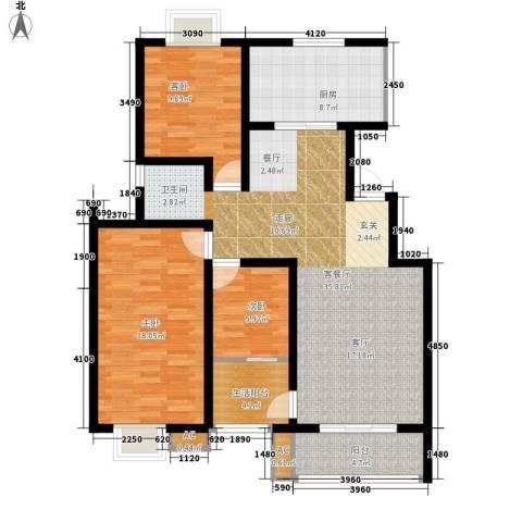 怡水花园3室1厅0卫1厨129.00㎡户型图