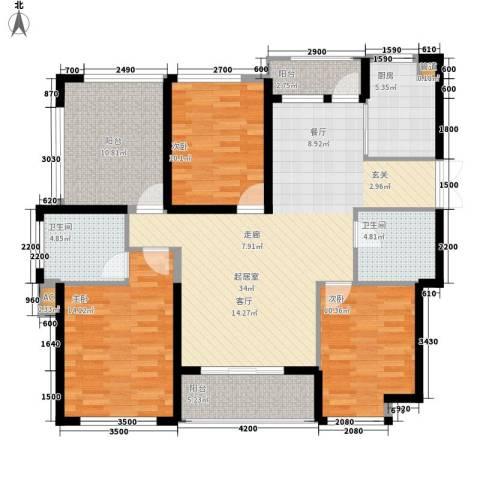 滨江果园避寒度假山庄3室0厅2卫1厨146.00㎡户型图