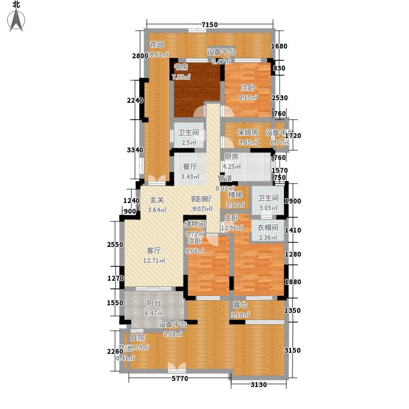 龙源湖国际广场162.19㎡龙源湖国际广场五房两厅两卫户型5室2厅2卫