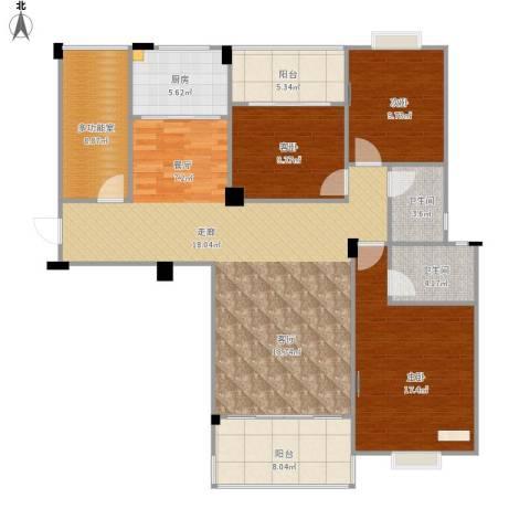 阳光名邸3室1厅2卫1厨156.00㎡户型图