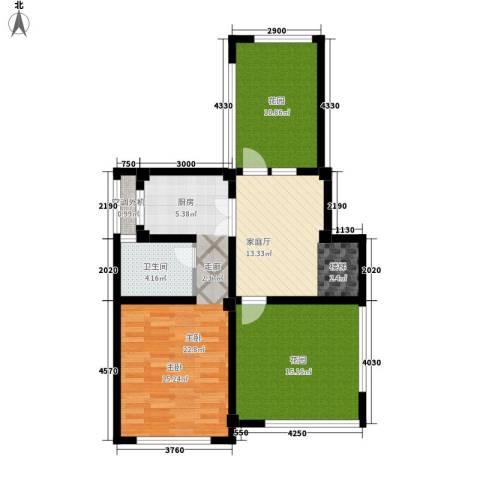 伴山蓝庭1室0厅1卫0厨67.30㎡户型图