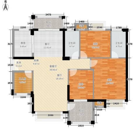 里维埃拉3室1厅2卫1厨148.00㎡户型图