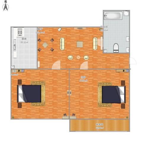 金盛家园2室1厅1卫1厨503.00㎡户型图