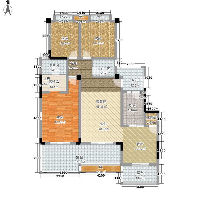 保利山庄120.00㎡二期洋房四号楼标准层E户型