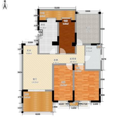 天江格调兰庭3室0厅1卫1厨111.45㎡户型图