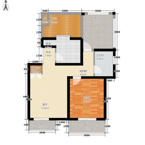 天江格调兰庭1室0厅1卫1厨72.49㎡户型图