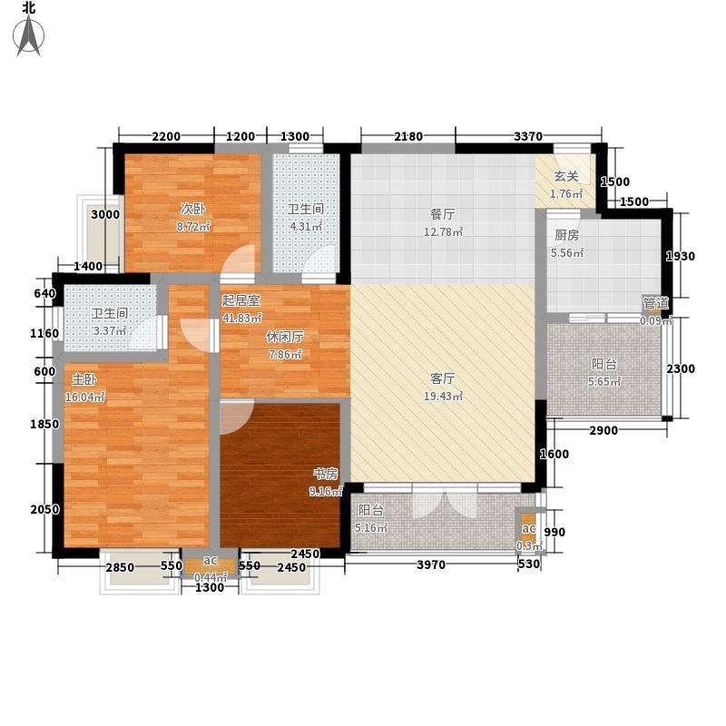 新城绿洲108.00㎡3栋1#面积10800m户型