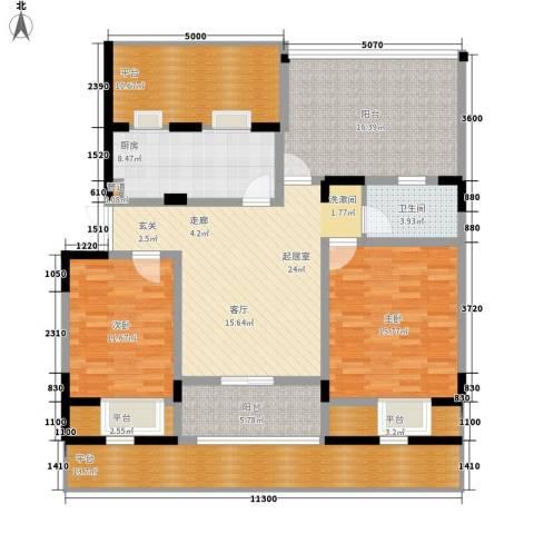 天江格调兰庭2室0厅1卫1厨116.43㎡户型图