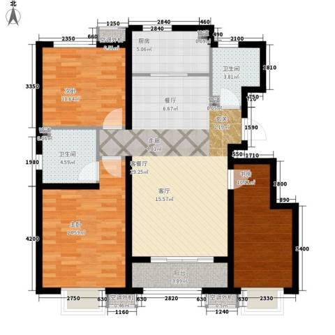 东方明珠3室1厅2卫1厨120.00㎡户型图