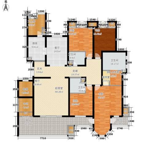 中海御湖1号4室0厅3卫1厨267.00㎡户型图