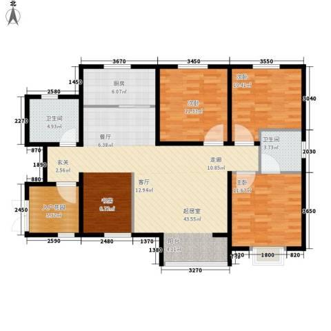 曦城3室0厅2卫1厨115.00㎡户型图