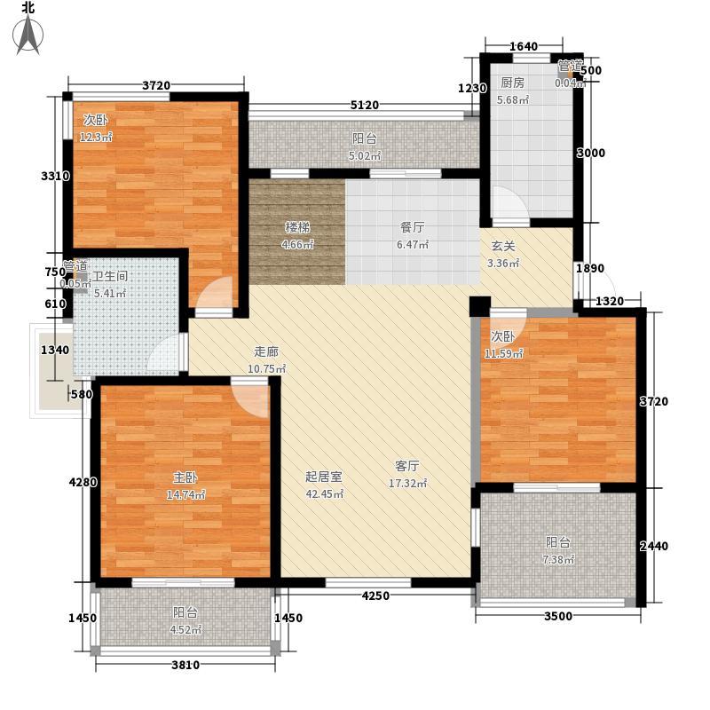 洪城比华利7、15、19、20#楼501复式底层户型