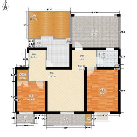 天江格调兰庭2室0厅1卫1厨102.92㎡户型图