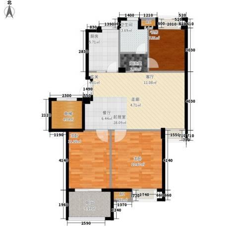 春天里3室0厅1卫1厨90.00㎡户型图