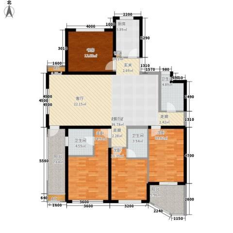 滨江果园避寒度假山庄4室0厅3卫1厨172.00㎡户型图