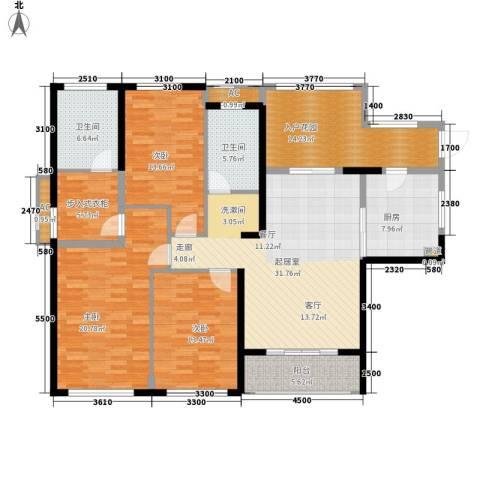 滨江果园避寒度假山庄3室0厅2卫1厨181.00㎡户型图