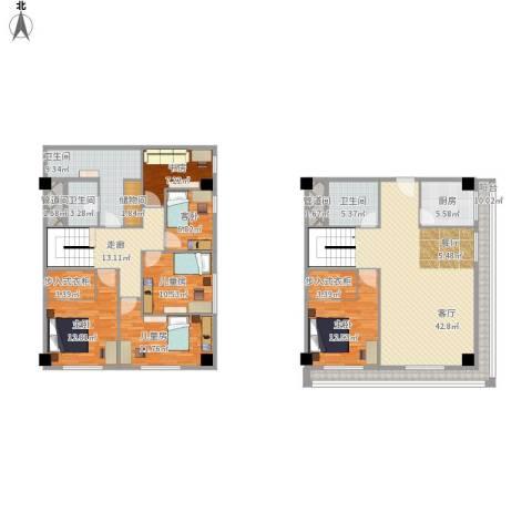 新发地6室1厅3卫1厨231.00㎡户型图