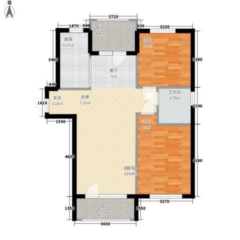 富虹太子城2室0厅1卫1厨98.00㎡户型图