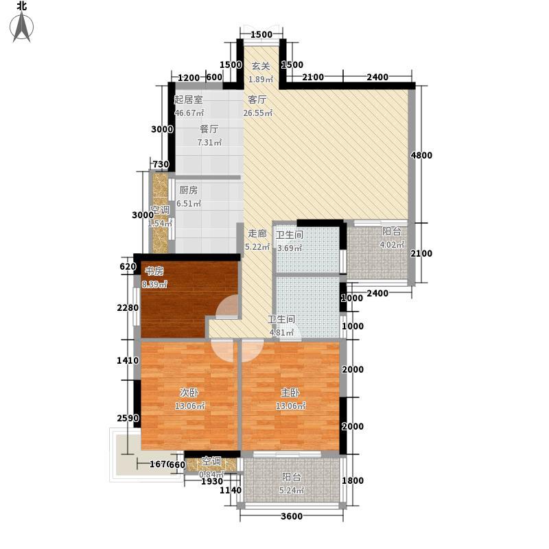 滨江电力花园四期132.32㎡恒森恒景苑户型3室2厅2卫