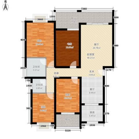 朝阳嘉苑4室0厅2卫1厨175.00㎡户型图