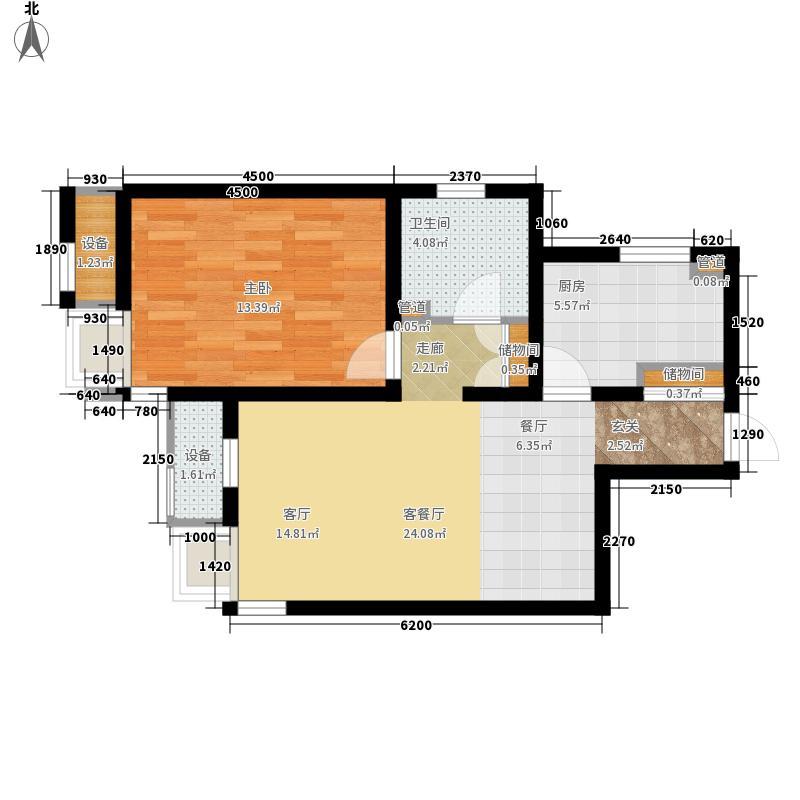 路劲太阳城74.72㎡清霖园1、3号楼标准层12户型