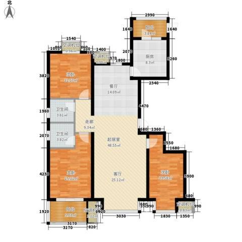 永康水印城3室0厅2卫1厨168.00㎡户型图