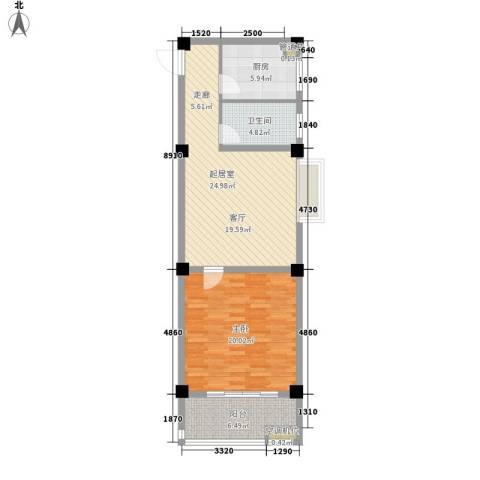 沪太雅苑1室0厅1卫1厨72.00㎡户型图