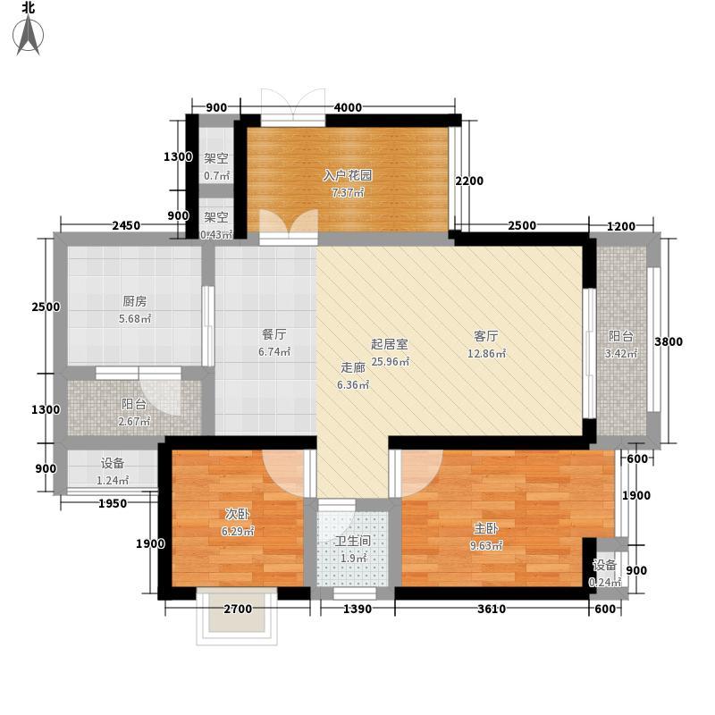 金源利青国青城65.00㎡一期6号楼面积6500m户型