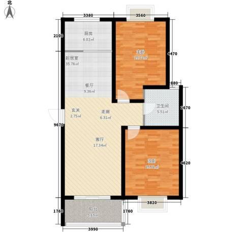 畅春园2室0厅1卫1厨119.00㎡户型图