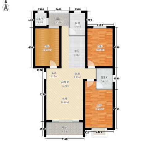 朝阳嘉苑3室0厅2卫1厨139.00㎡户型图