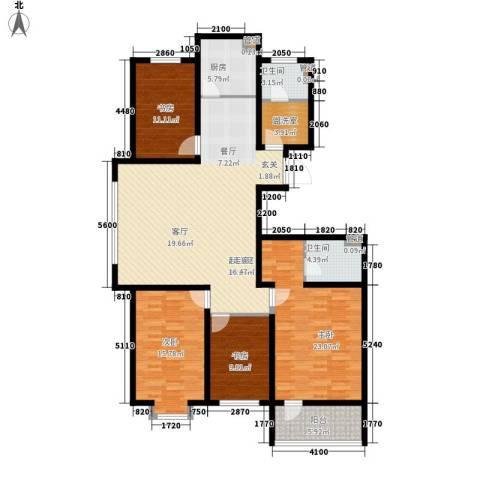 海源丽轩4室0厅2卫1厨146.00㎡户型图