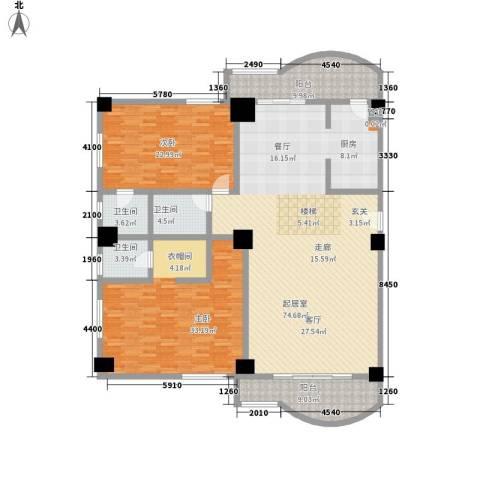 大欣圆梦园2室0厅3卫0厨349.00㎡户型图