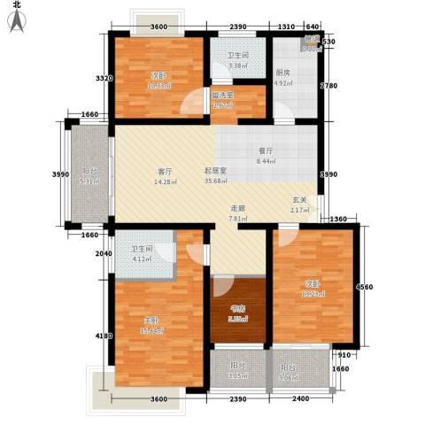 柠檬华苑4室0厅2卫1厨151.00㎡户型图