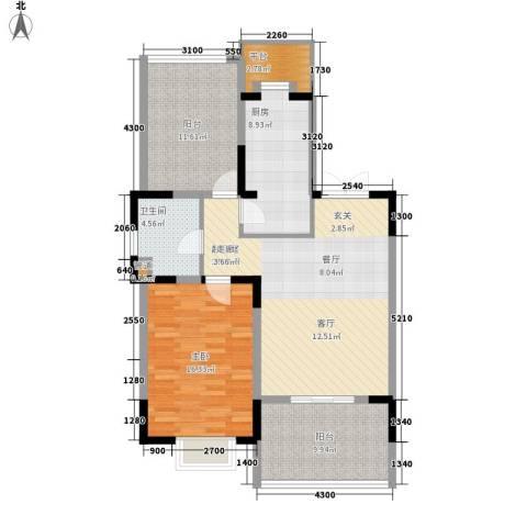 天江格调兰庭1室0厅1卫1厨81.32㎡户型图