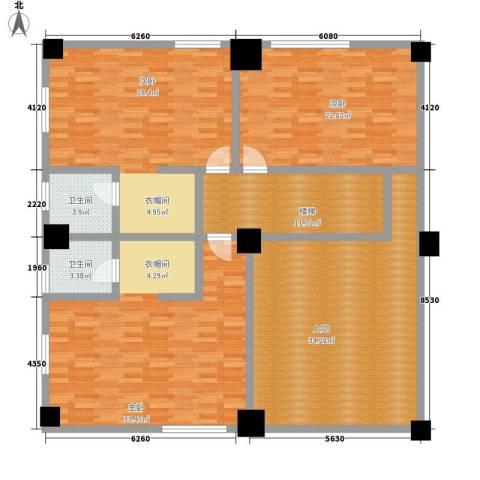 大欣圆梦园3室0厅2卫0厨349.00㎡户型图