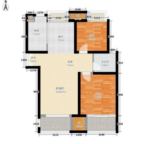 柠檬华苑2室0厅1卫1厨104.00㎡户型图