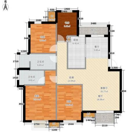 启明星座4室1厅2卫1厨144.00㎡户型图
