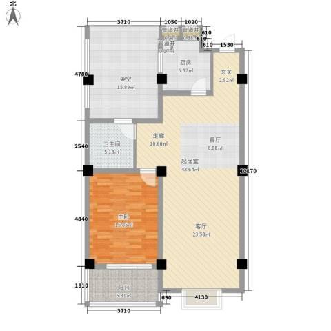 沪太雅苑1室0厅1卫1厨92.63㎡户型图