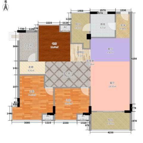 世纪城国际公馆二期2室0厅1卫1厨152.00㎡户型图