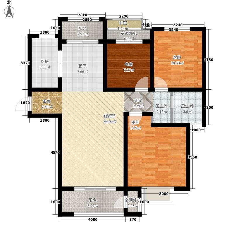 绿地新里香榭丽公馆109.00㎡一期3#、7#楼标准层F1'户型