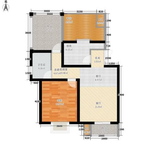 天江格调兰庭1室0厅1卫1厨69.00㎡户型图