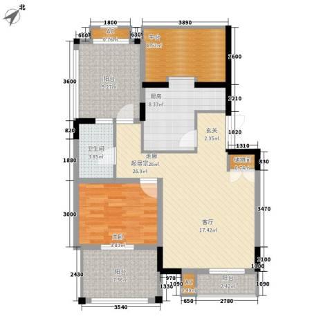 天江格调兰庭1室0厅1卫1厨78.47㎡户型图